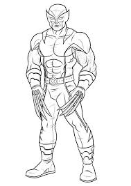 coloring pages for kids wolverine x men super heroes coloring