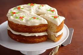 egg nog cake with white chocolate sour cream frosting ae dairy