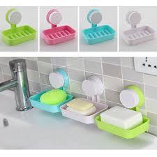 bathroom shoo holder candy color toilet suction cup holder bathroom shower soap dish
