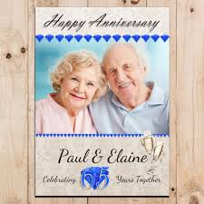 65 wedding anniversary personalised sapphire 65th wedding anniversary party photo banner