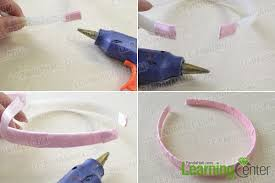 ribbon headband tutorial on how to make a flower ribbon headband for