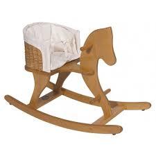 siege a bascule bebe cheval à bascule en hêtre avec siège osier bébé moulin roty