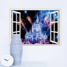 Castle Kids Room by Aliexpress Com Buy Cartoon Princess Castle Fireworks Window Wall