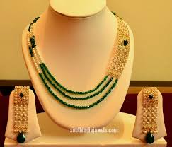 beaded necklace jewelry designs images 14k gold beaded designer necklace south india jewels jpg