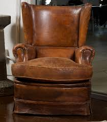 french art deco leather wing chair garden court antiques