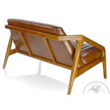 canap scandinave vintage canapé cuir cuir marron concorde saulaie