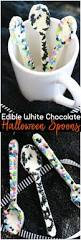 gourmet halloween chocolate edible white chocolate halloween spoons recipe white chocolate