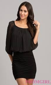 short dress with sleeves short black dresses promgirl