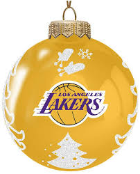 memory company los angeles lakers glass tree ornament