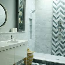 chevron bathroom ideas chevron tiled niche design ideas
