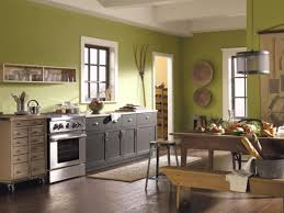 kitchen color schemes green kitchen wall paint black colors wooden