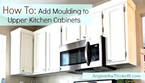 kitchen cabinet moulding ideas charming kitchen cabinets molding ideas en cabinet trim marvellous