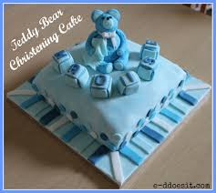e d does it teddy bear christening cake