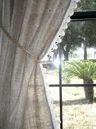Lace Trim Curtains Remarkable Lace Trim Curtains Inspiration With 101 Best Burlap