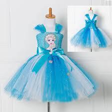elsa halloween costume girls aliexpress com buy tulle tutu dress princess anna elsa dress