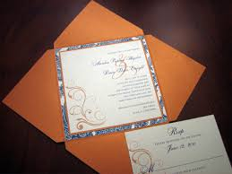 blue wedding invitations templates blue and orange wedding invitation kit together with