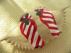 snowman crab shell ornament crafts shell