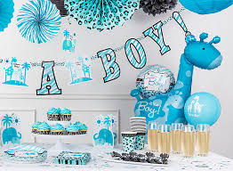 baby shower theme for boy blue safari boy s baby shower ideas party city