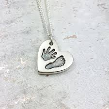 handmade charm necklace images Handmade handprint heart charm necklace jpg