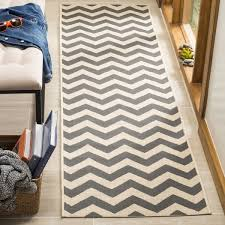Outdoor Runner Rug Safavieh Courtyard Chevron Grey Beige Indoor Outdoor Runner Rug