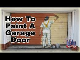 How To Spray Paint Doors - how to paint a door paint a garage door with an airless paint