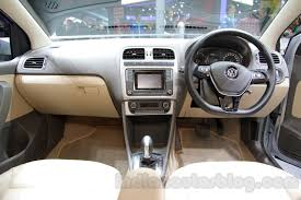 volkswagen vento 2016 vw vento dashboard at the auto expo 2016 indian autos blog