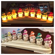 christopher radko shiny brite snowman lights 9 l candolier