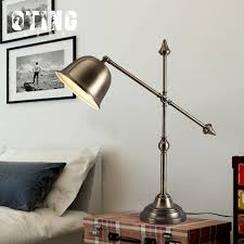 Wrought Iron Table Lamps Aliexpress Com Buy American Vintage Loft Style Wrought Iron