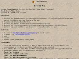 thanksgiving day 1621 what really happened 3rd grade lesson plan