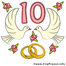 anniversaire mariage 10 ans anniversaires de mariage clipart images télécharger gratuit