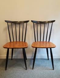 Scandinavian Chairs by Pair Of Scandinavian Chairs With Bars 1960s Design Market