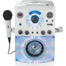 light up karaoke machine the singing machine sml385w sound light show karaoke system white