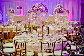 Purple Flowers Centerpieces by Purple Flower Centerpiece Round Table Setup Purple Wedding