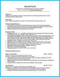 Java Developer Resume Template 100 Web Development Resume Entry Level Java Developer Resume