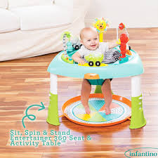 sit to stand activity table sit spin stand entertainer 360 seat activity table