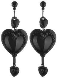 Tarina Tarantino Crystal Flower Earrings - super sized lucite barbie heart earrings collaborations