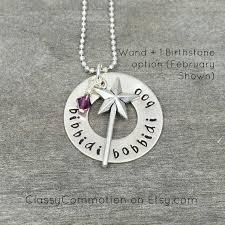 godmother necklace bibbidi bobbidi boo fairy godmother necklace with wand