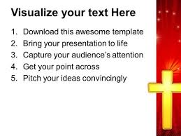 golden cross christian powerpoint templates and powerpoint themes