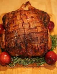 recipe bacon blanketed herb roasted turkey herb roasted turkey