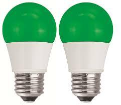 Led Light Bulbs 40 Watt Equivalent by Tcp 40w Equivalent Green Led A15 Regular Shaped Light Bulbs Non