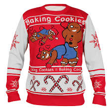 police gear naughty gingerbread men christmas sweater nsfw