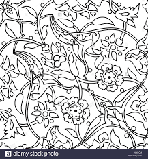 Tribal Print Wallpaper by Stylized Flowers Oriental Doodle Wallpaper Seamless Abstract Stock