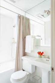 Small White Bathrooms 45 Best 1 2 Bath Images On Pinterest Fabric Wallpaper Bathroom