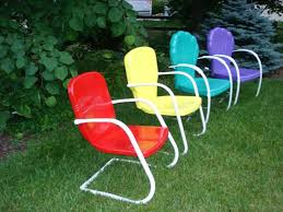 ways to paint outdoors vintage metal lawn chairs all home