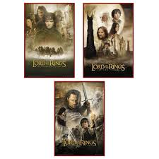 amazon com the lord of the rings 1 2 u0026 3 3 piece movie poster