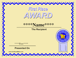 award certificate template for word free choice image
