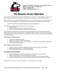 Career Objective Example Resume Cover Letter Examples Of Career Goals For Resume Sample Career