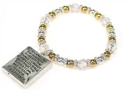 serenity prayer picture frame beaded bracelet the witness