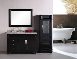contemporary 48 inch single bathroom vanity gray finish no top