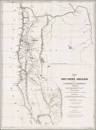 map of southern oregon and northern california compiled from the